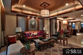 最新中式风格客厅装修图片