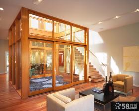 别墅室内下沉式庭院景观设计