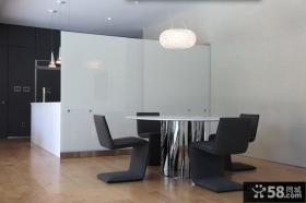 黑白简约餐厅装修效果图大全2012图片
