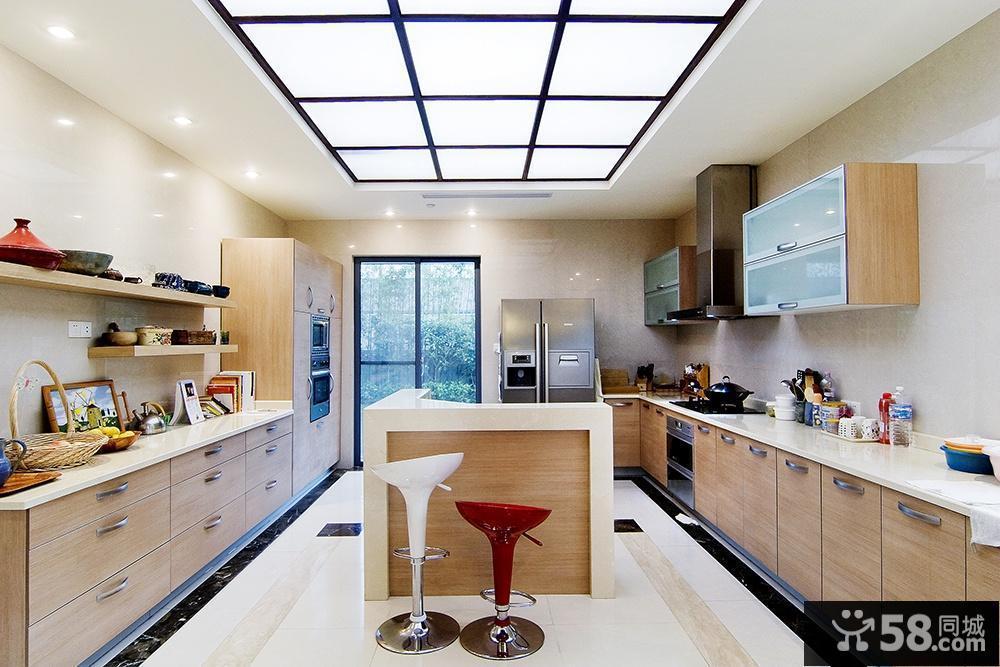 开放式厨房吊顶装修设计图片