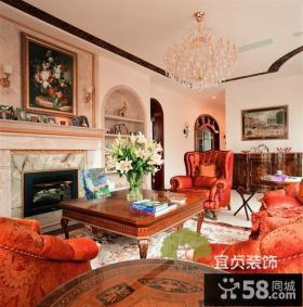 美式风格复式楼客厅装修效果图大全