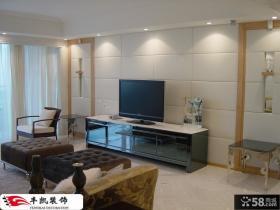 简约客厅硬包电视背景墙装修效果图