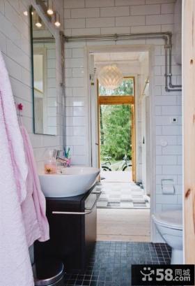 两室一厅简约风格卫生间瓷砖效果图