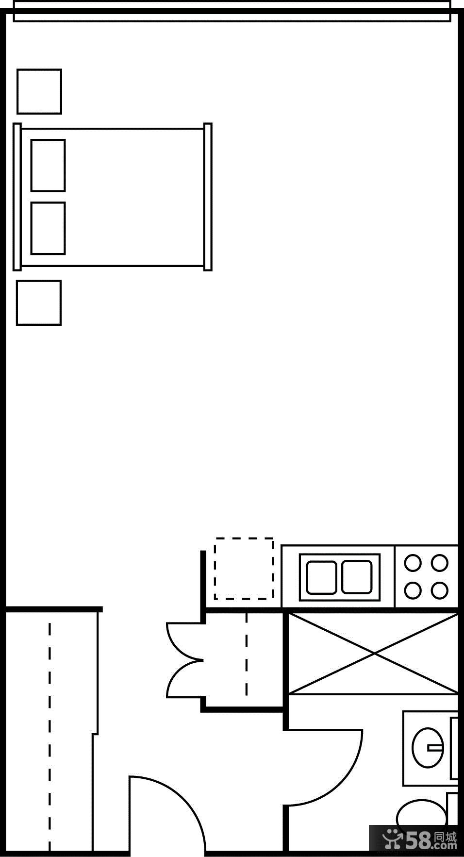 【单身公寓装修平面图】