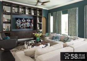 美式现代风格客厅设计效果图