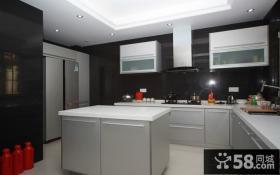 中国豪华别墅开放式厨房设计效果图