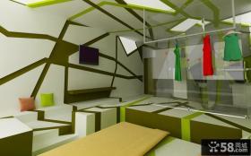 创意的鸟巢打造小户型客厅电视背景墙装修效果图