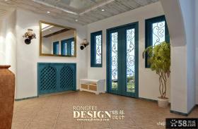 地中海风格别墅客厅电视背景墙图片