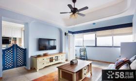 地中海风格装修客厅电视背景墙效果图