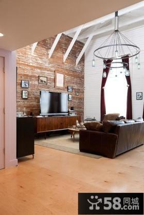 昊海君悦45平小户型客厅吊顶装修效果图大全2012图片