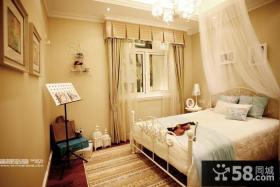 现代欧式风格三室两厅卧室设计效果图