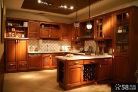 美式乡村风格整体厨房装修设计图片