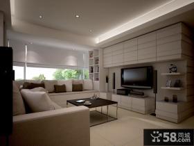 现代简约风格三居室效果图片