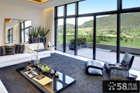灰色客厅飘窗设计装修效果图