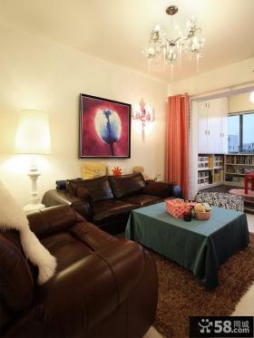 现代客厅沙发背景墙装饰画效果图欣赏