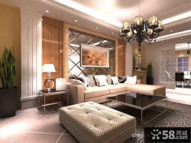 欧式客厅沙发背景墙装修效果图