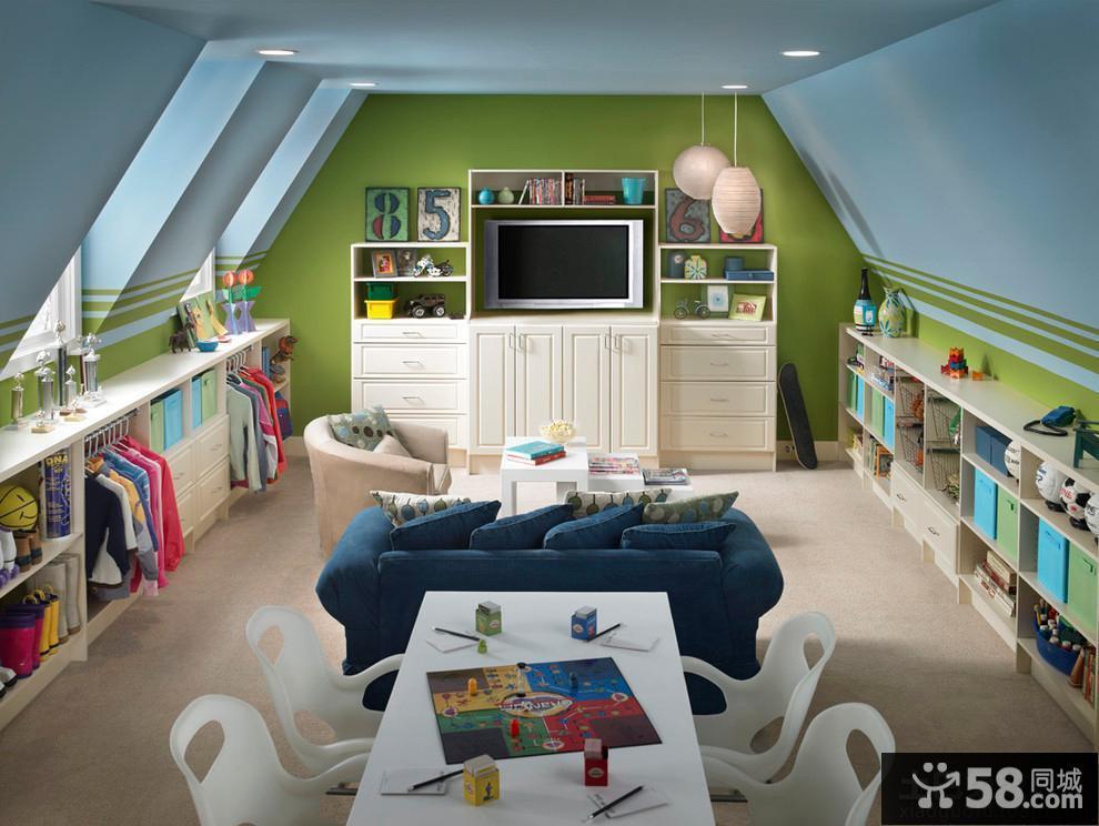 家庭设计装修儿童房阁楼效果图