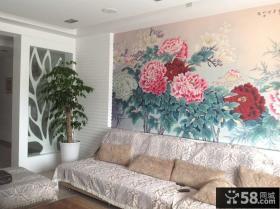 客厅背景墙墙画装饰图片