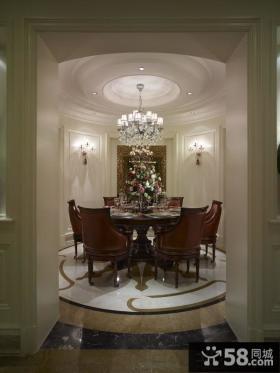 美式新古典风格餐厅吊顶设计效果图