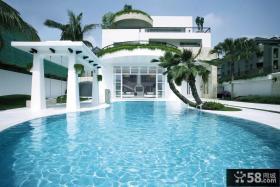 白色简约别墅外观设计图