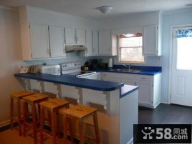 8万打造清新地中海风格小户型厨房橱柜装修效果图大全2012图片