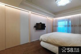 简单卧室电视背景墙效果图大全
