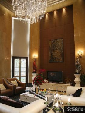 现代别墅客厅电视背景墙效果图大全图片