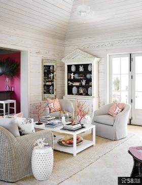 北欧风格小别墅室内客厅装修图大全2014