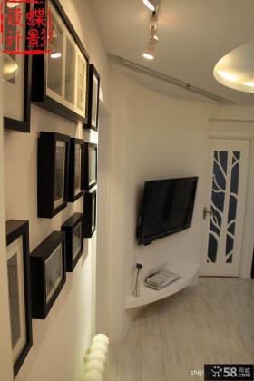 60平米小户型客厅电视背景墙装修效果图