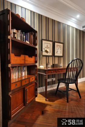古典美式豪华复式家装效果图