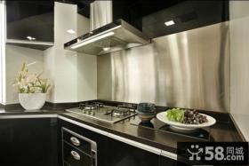 现代开放式厨房装修设计效果图