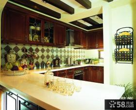 美式厨房设计效果图片