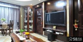 美式客厅液晶电视墙装修效果图