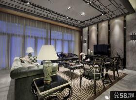 欧式新古典风格客厅电视背景墙图片大全