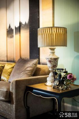 客厅软装欧式灯具图片