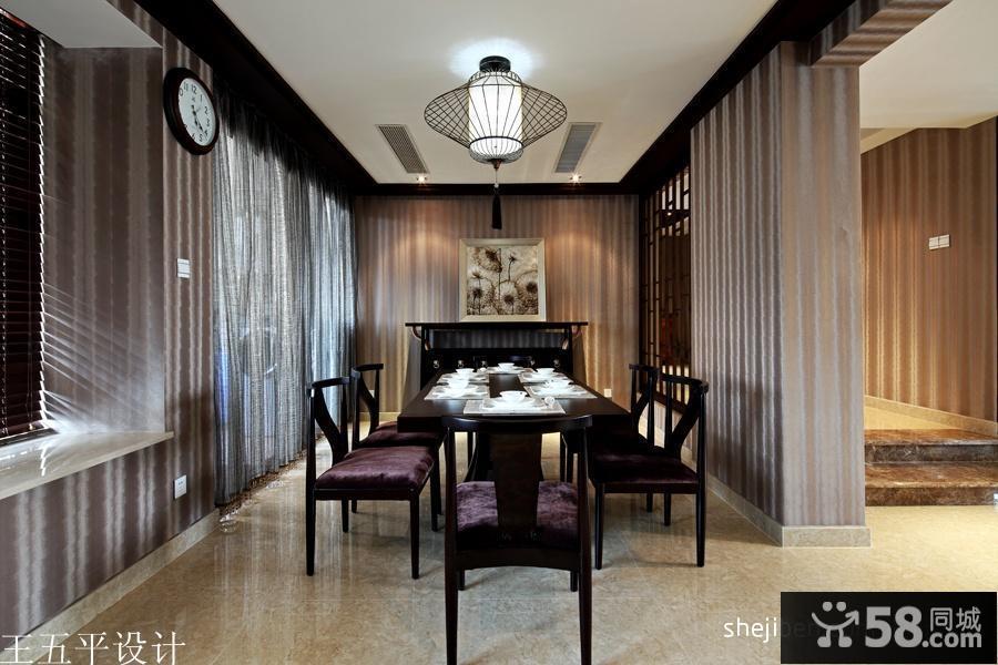 新中式风格餐厅吊顶图片
