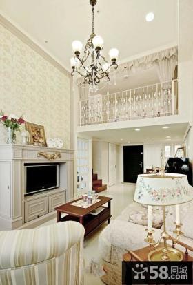 简欧复式家装设计效果图片