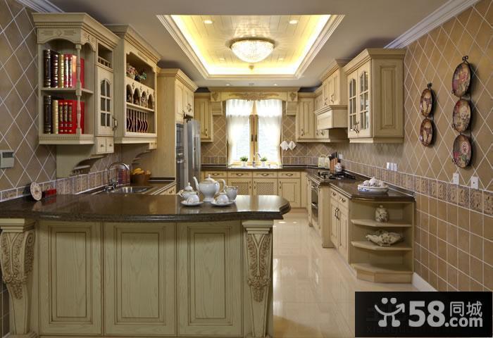 豪华装修欧式厨房吊顶效果图