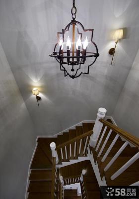 简欧设计别墅室内楼梯效果图片
