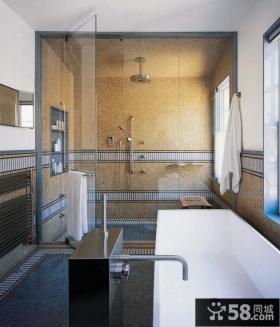 卫生间瓷砖背景墙装修