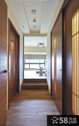 日式风格家庭设计过道吊顶图片大全
