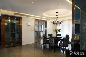 中式现代别墅室内家装效果图