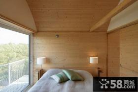 有一点度假村感觉的感受美式田园风格卧室装修效果图