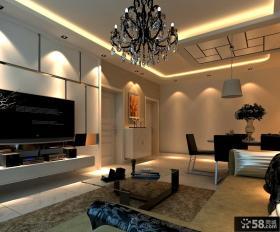 现代温馨风格电视背景墙装修效果图