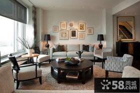 欧式简约风格客厅餐桌效果图