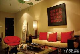 玄关客厅沙发墙装饰效果图