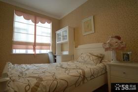 欧式田园风格小卧室壁纸装修效果图大全2013图片