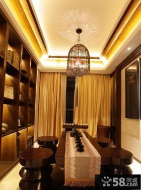 中式风格两室两厅餐厅装修效果图