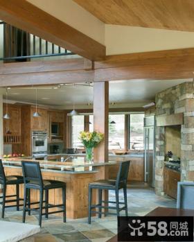 实木装修阳台厨房装修效果图