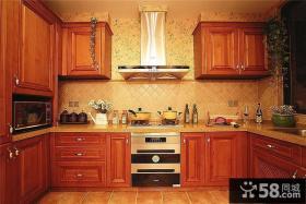 美式实木厨房装潢案例